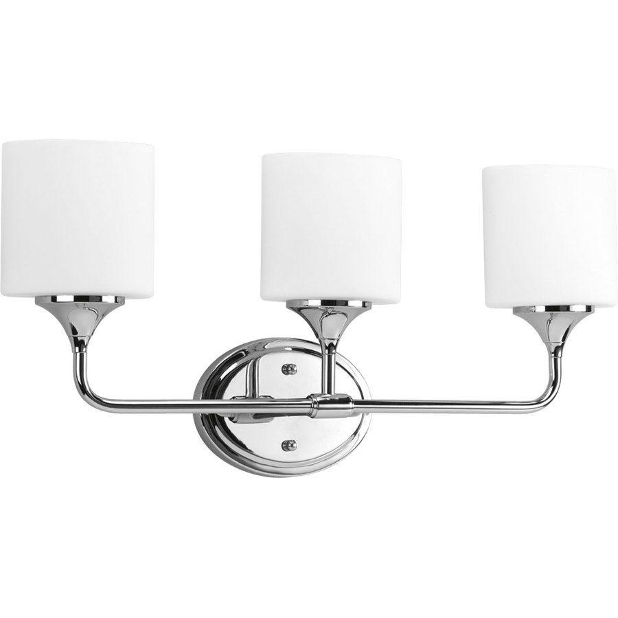Progress Lighting 3-Light Lynzie Chrome Standard Bathroom Vanity ...