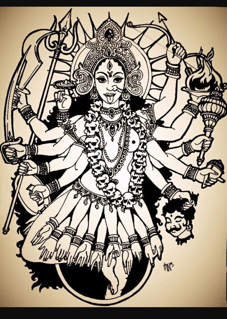 Pin De Frangely P En Indu Cultura Tatuajes Abstractos Diosa
