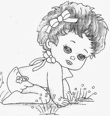 Meninas Bebes Coisas Para Desenhar Paginas Para Colorir Meninas