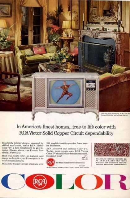 Rca Victor Color Television With Images Vintage Advertisements Vintage Ads Retro Advertising