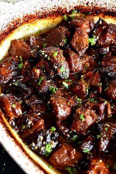 Honey Garlic Baked Pork Bites