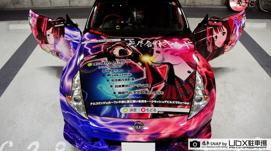 Anime is pretty cool cars are pretty cool so it makes