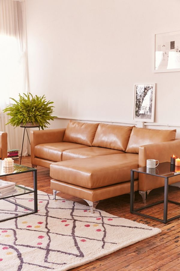 Chamberlin Recycled Leather Sectional Sofa In 2020