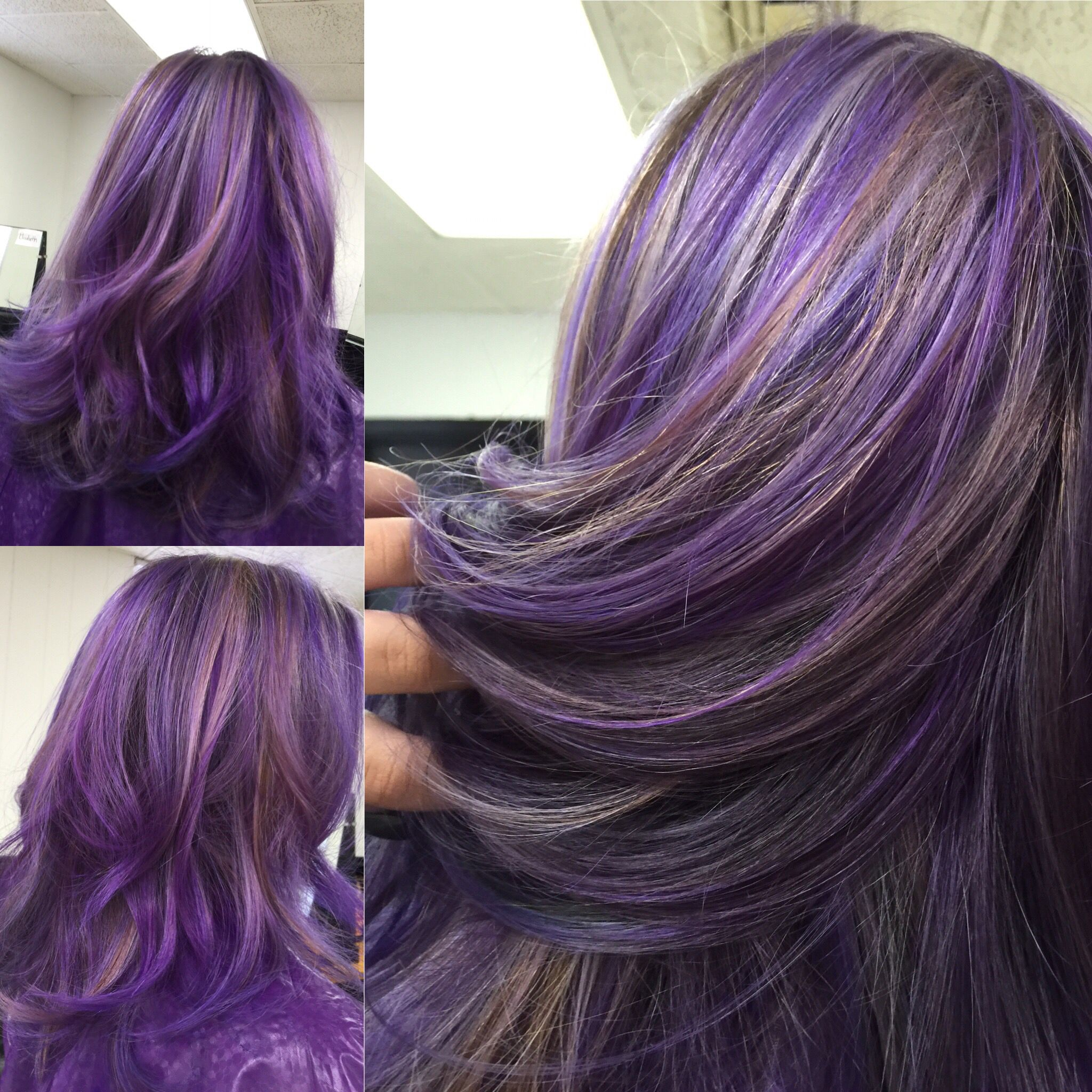 how to get purple grey hair