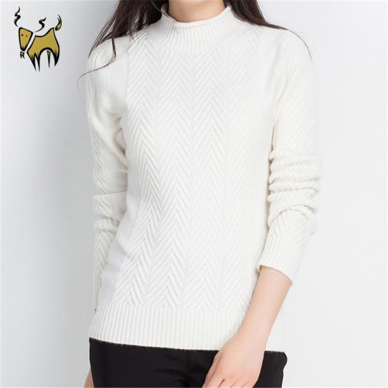 Women's Pullovers 100% Pure Goat Cashmere 3 Color sweater