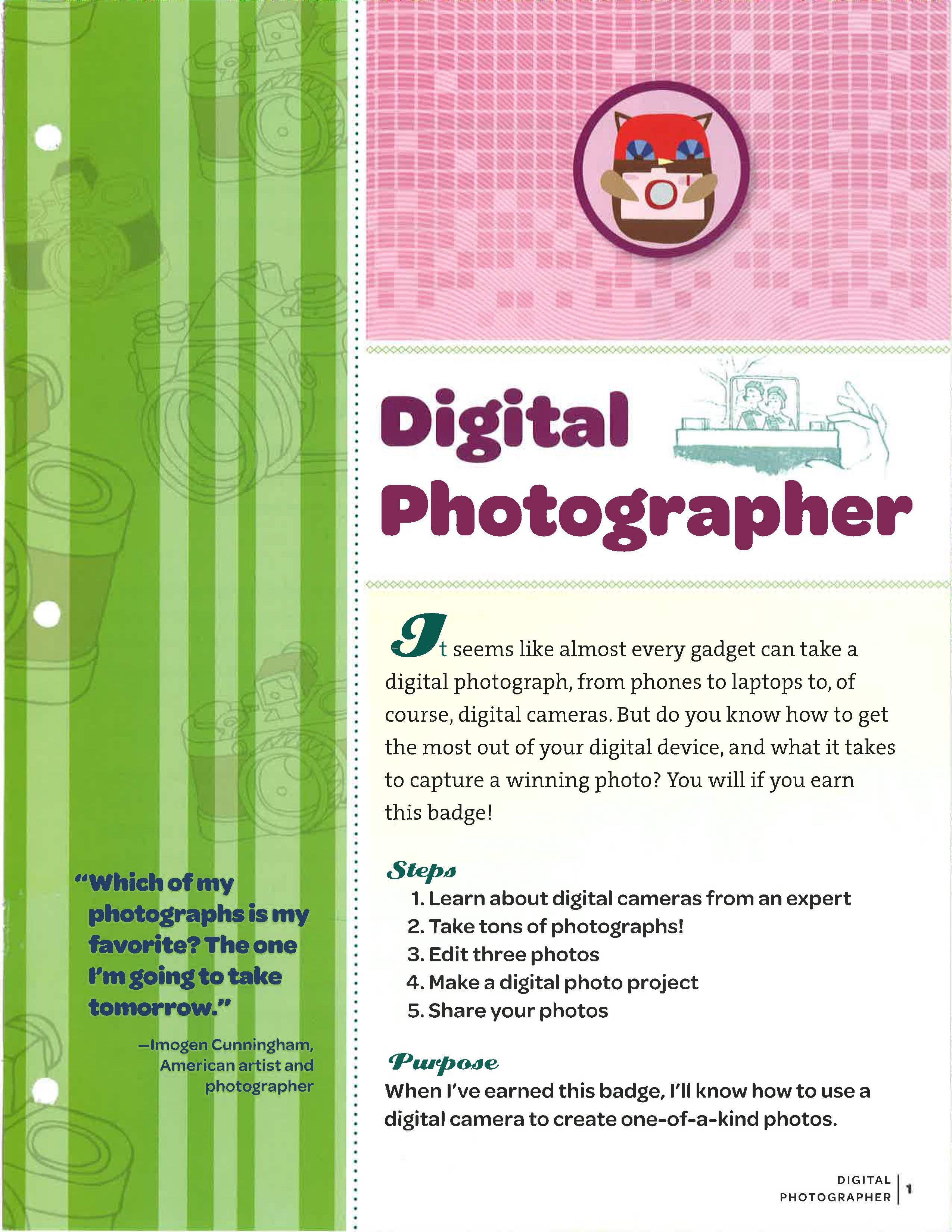 Digital Photography  Junior Girl Scout Badges, Girl Scout -3729