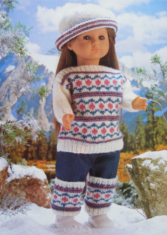 c020a389b12 PDF Fair Isle Dolls Clothes Knitting Pattern   Dolly 16