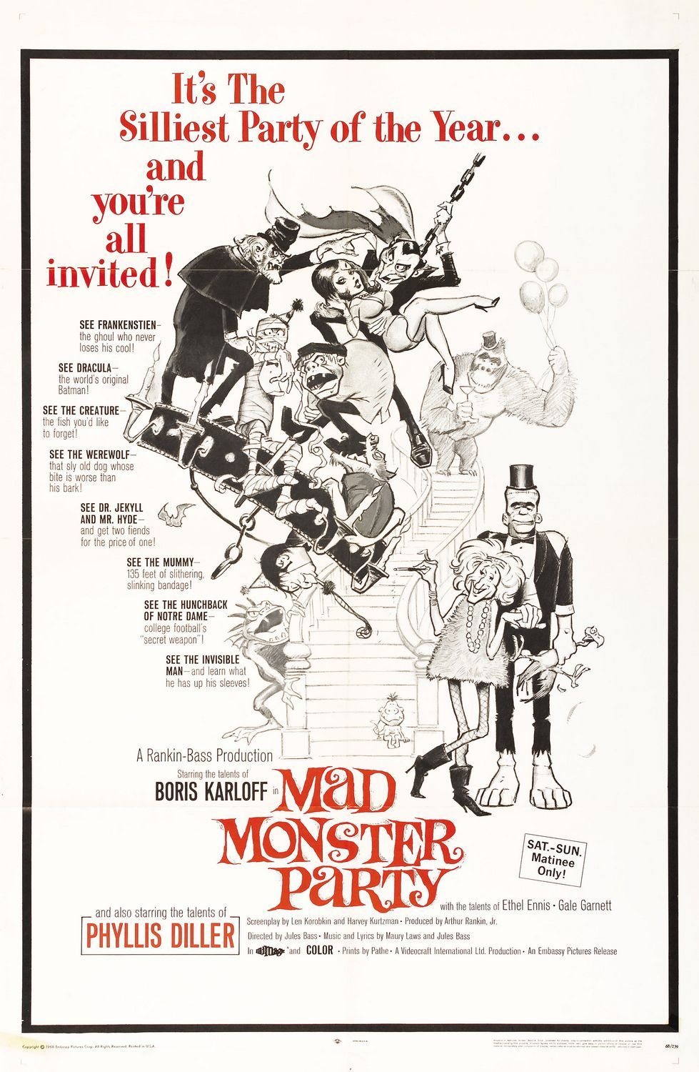 Mad Monster Party.1967. Rankin/Bass. USA.   Vintage Halloween ...