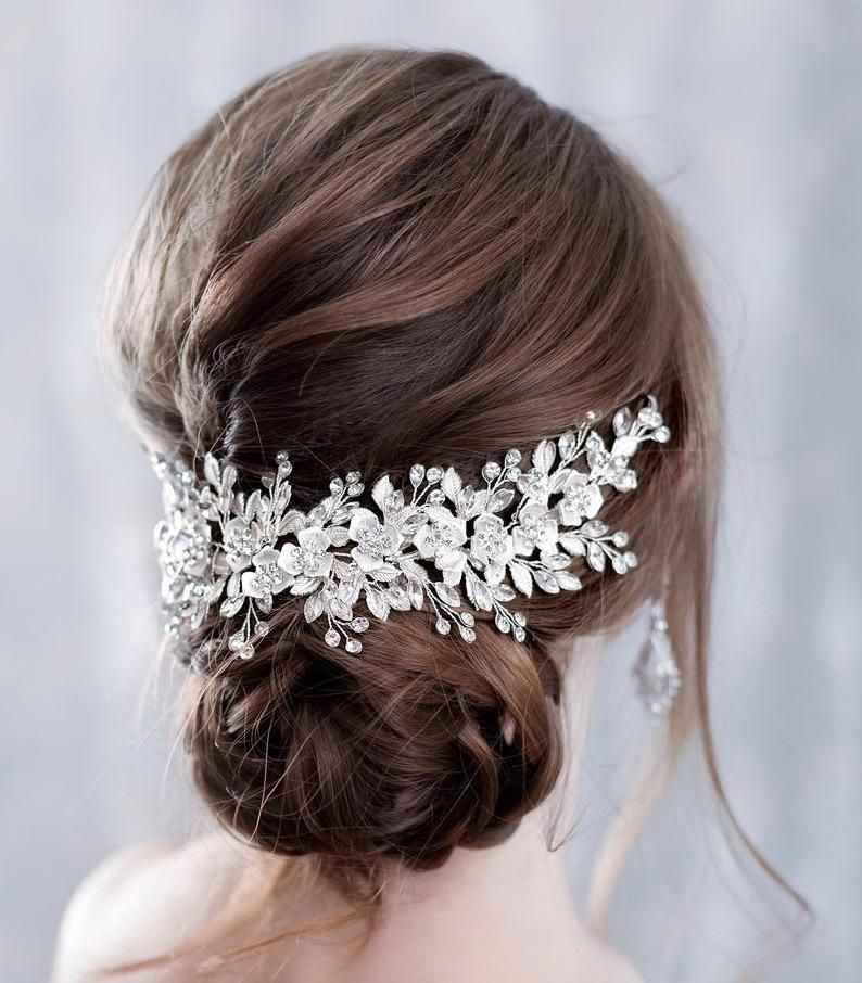 wedding accessories luxury brida comb bride comb  freshwater Bridal hair pin floral bridalcomb bridal hair pin bridal hair accessory
