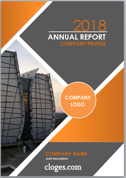 Orange Cover Page Template For Microsoft Word Cover Page Template Cover Pages Microsoft Word Free