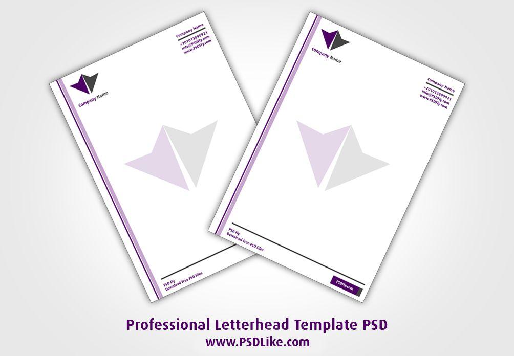 Professional Letterhead Template PSD - PSD Like - Professional - letterhead example