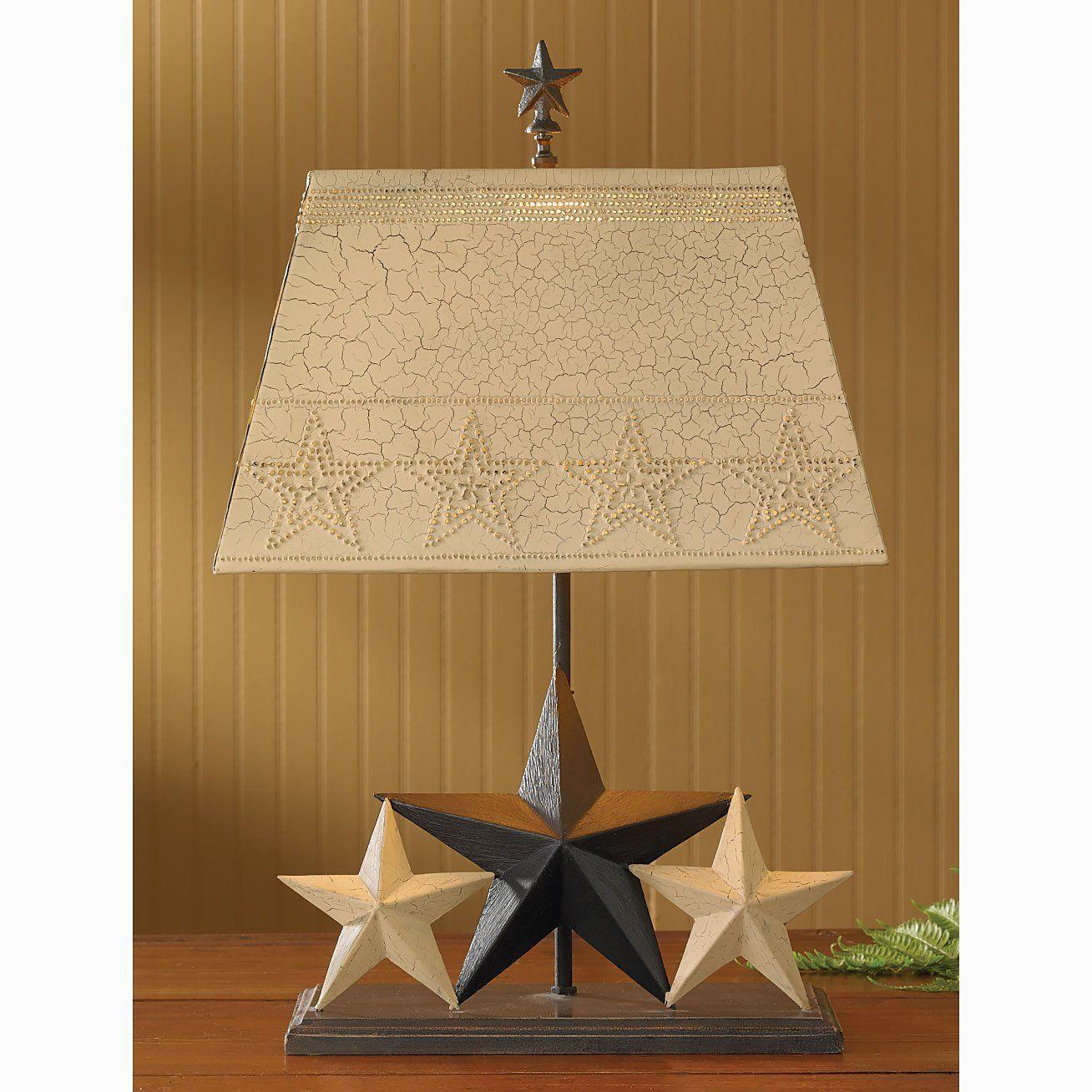 Three Star Lamp With Shade 25 263 K In 2020 Star Lamp Primitive Lamps Lamp
