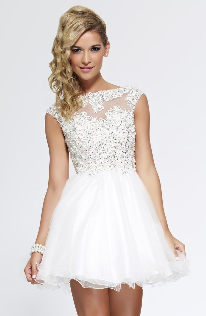 Short white graduation dress weddinng dresses pinterest lace