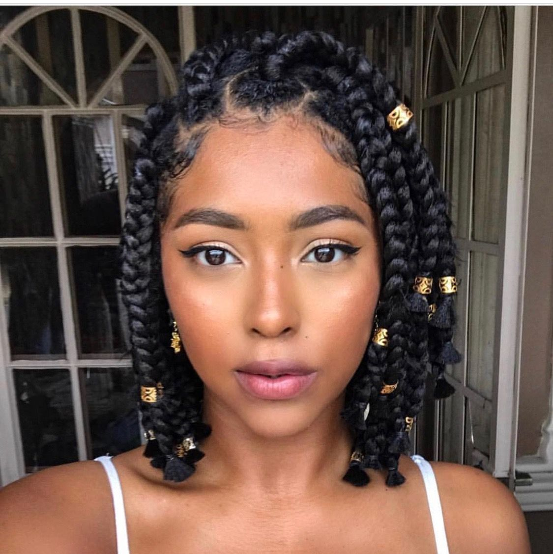 Pin By Kathe On Braids Natural Hair Styles Box Braids Styling Hair Styles