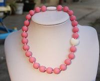 Children Silicone Teething Necklace with Violet Pink Heart Bead   Sensory Chew Necklace - Silicone