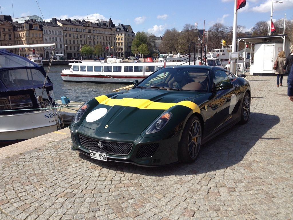 599 GTO snapped in Stockholm. Pictured in the 1950s color \