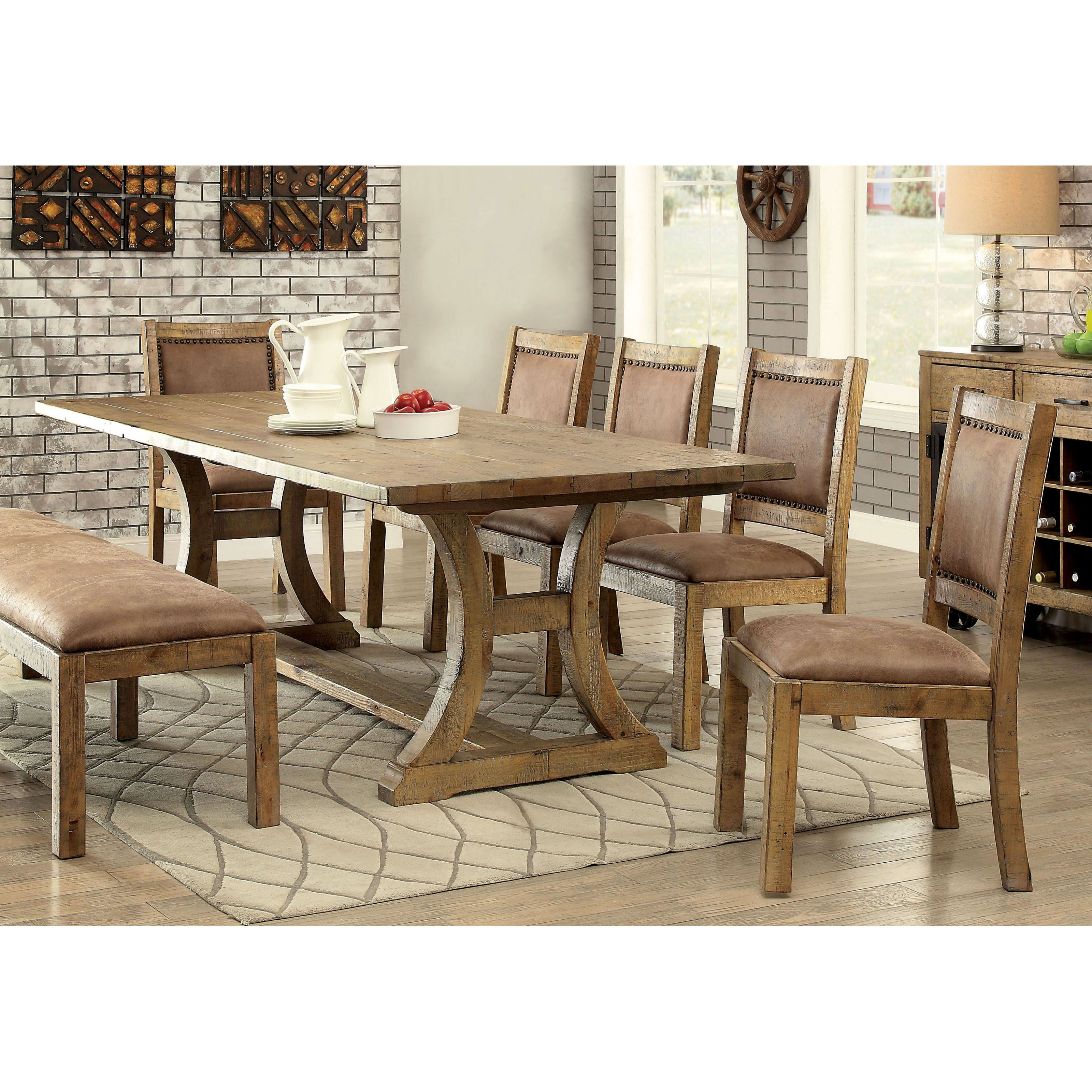 Furniture Of America Camen 6 Piece Dining Set  Idf 3829T 6Pc -