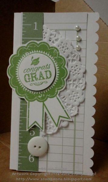 Green Grad Card