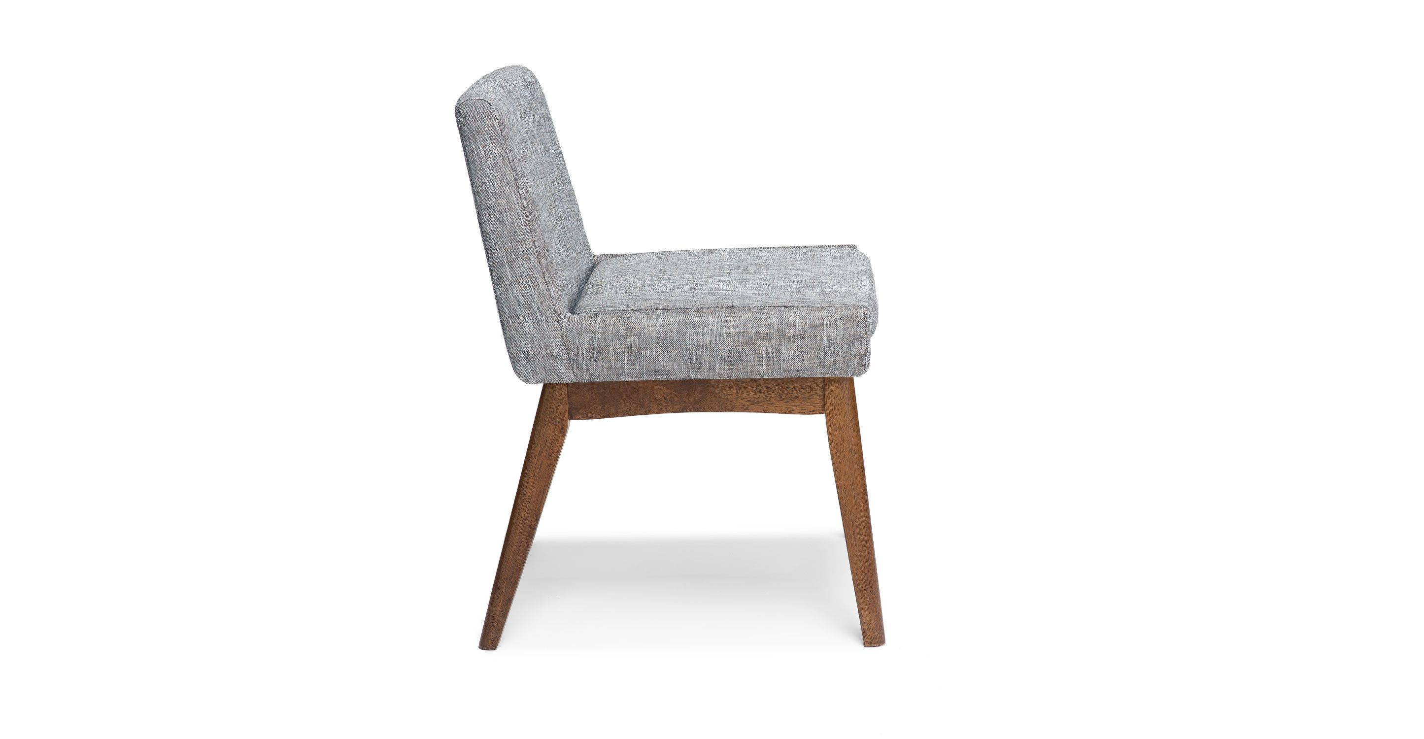 Remarkable 2X Gray Dining Chair In Brown Wood Upholstered Article Caraccident5 Cool Chair Designs And Ideas Caraccident5Info