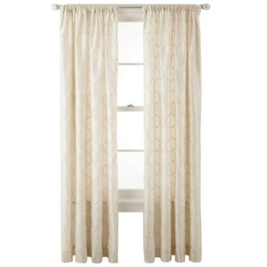 Royal Velvet Geneva Rod Pocket Curtain Panel Jcpenney Rod