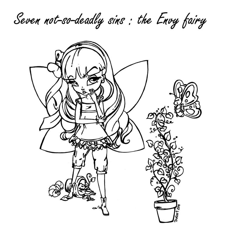 gluttony coloring pages | The Envy Fairy by JadeDragonne.deviantart.com on ...