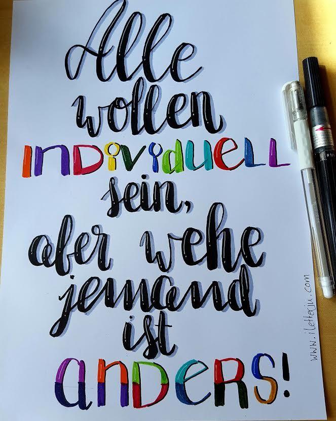 LetterLovers - iletterju - Handlettering individuell anders yourself letras Letter Lovers: iletterju zu Gast im Lettering Interview