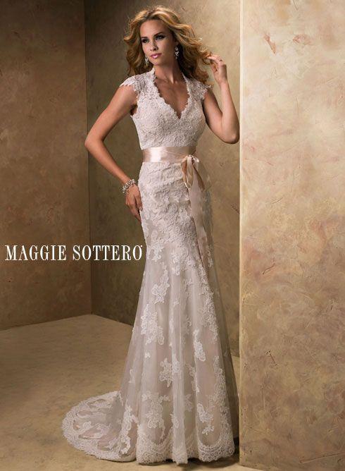 Dressense Maggie Sotero Ruby Col Bronwyn Front Jpg Lace Wedding Dress Vintage Wedding Dress Sizes Sottero Wedding Dress