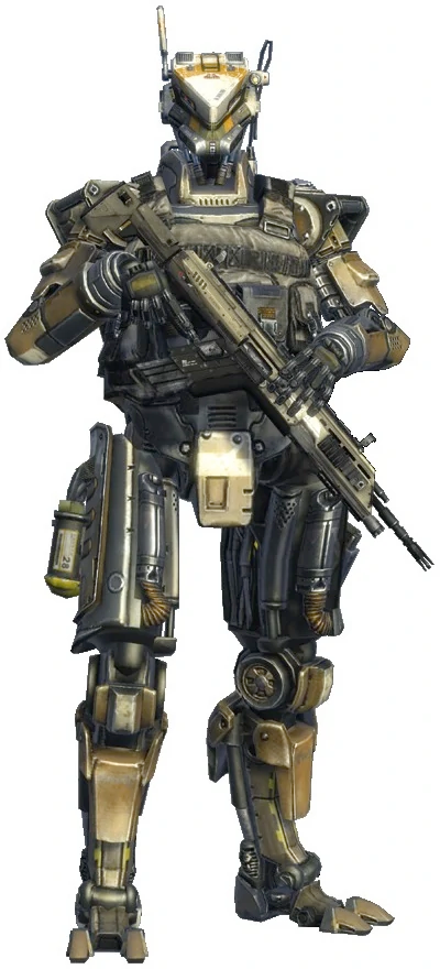 Brd 01 Automated Infantry Spectres Are A Type Of Minion A Non Playable Character In Titanfall And Titanfall 2 They A Titanfall Combat Robot Robots Concept