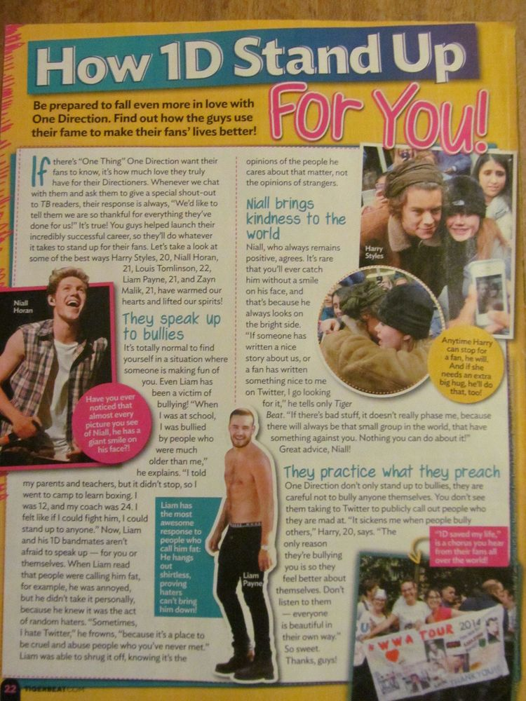 One Direction, Full Page Pinup Clipping