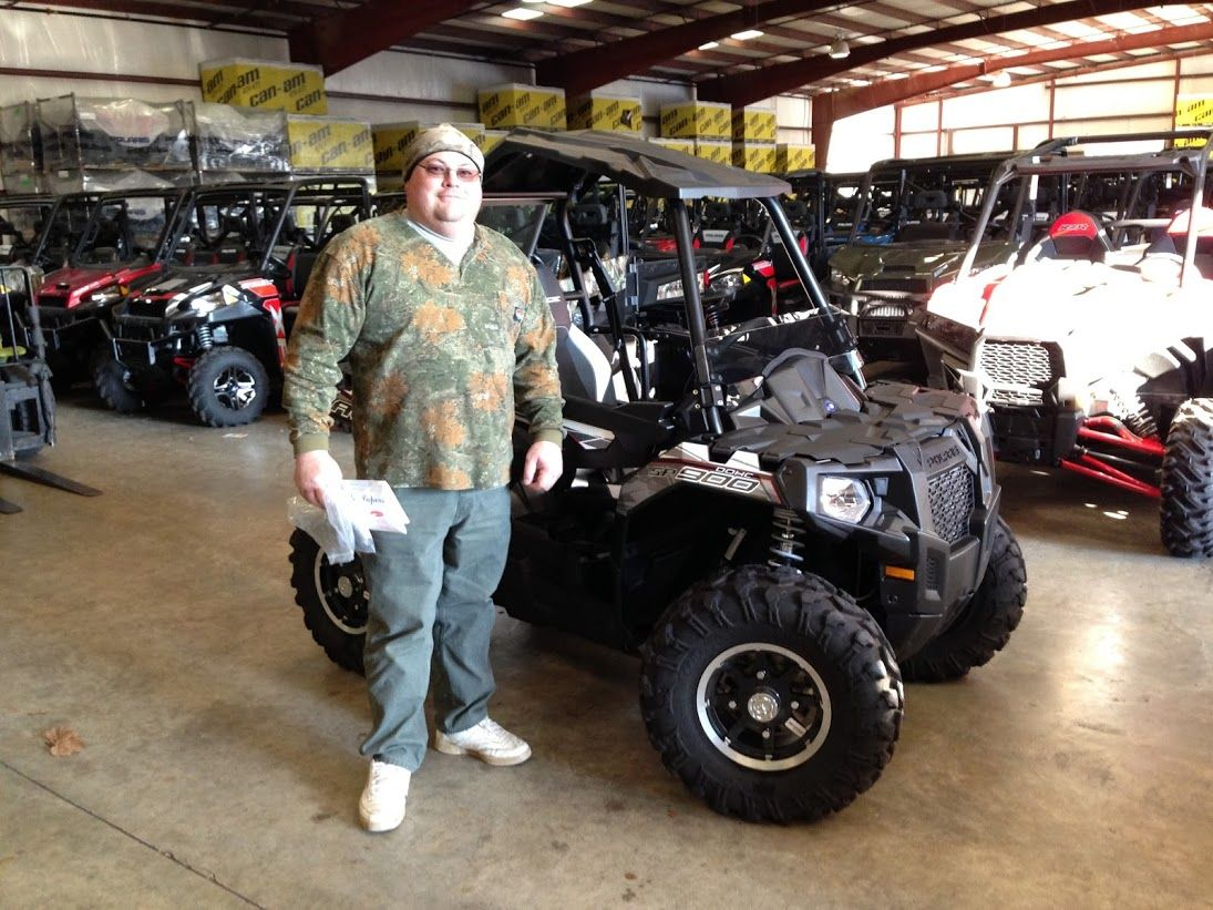 Thanks to Ellis Henson from Buckatunna MS for getting a 2016 Polaris Ace SP 900 at Hattiesburg Cycles
