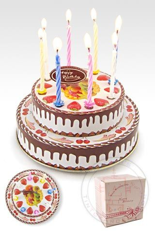Buy Birthday Cake Musical Tin With Candles At TinToyArcade
