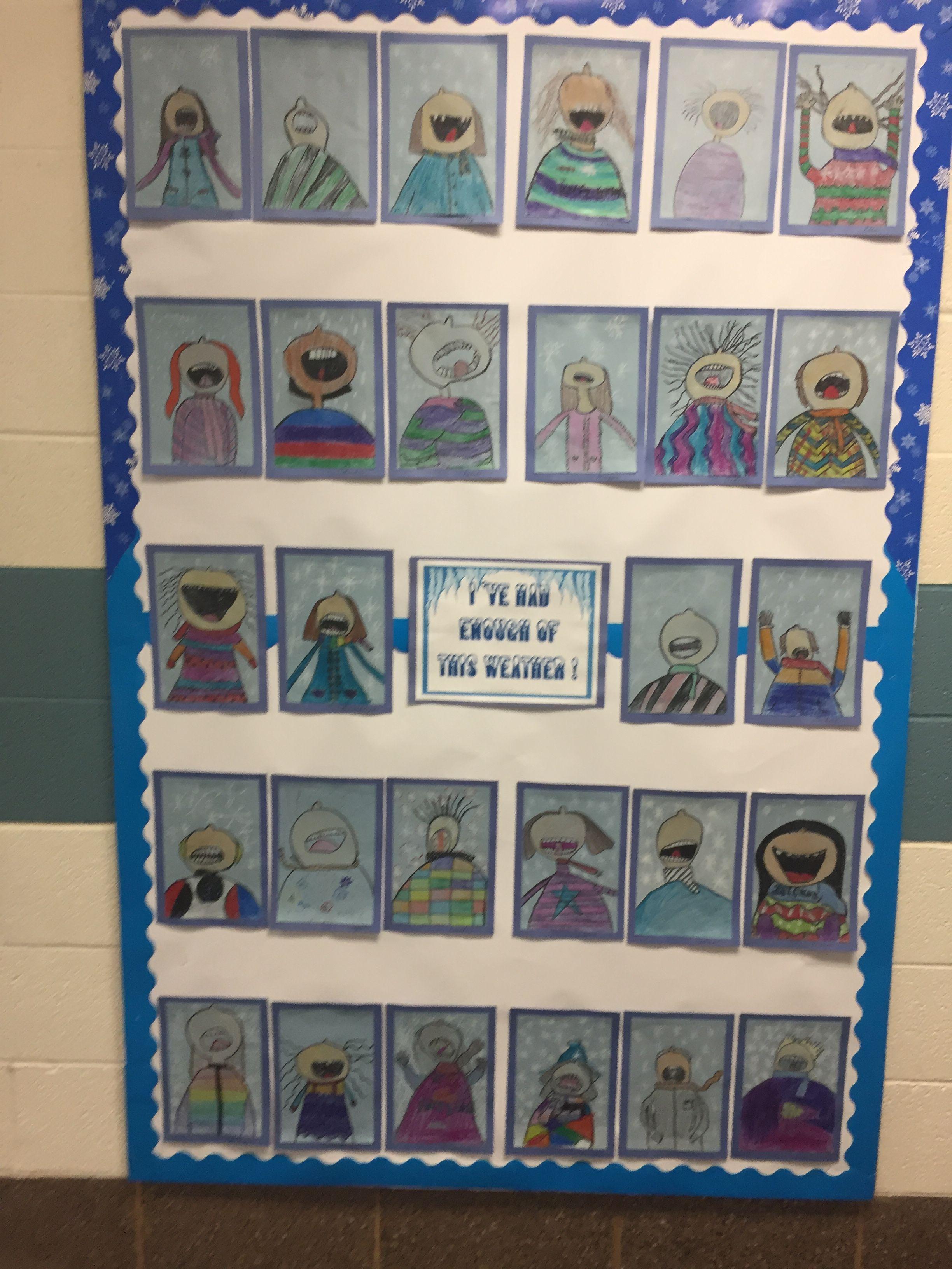 Winter Perspective Self Portrait Art Bulletin Board Art