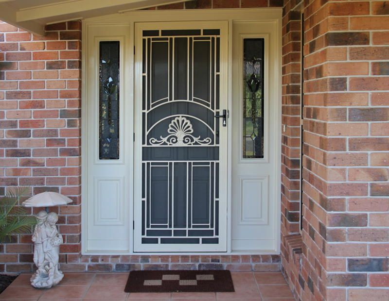 Luxurious And Unique Security Door With Crafted Glass Screen And Sidelights Part 47