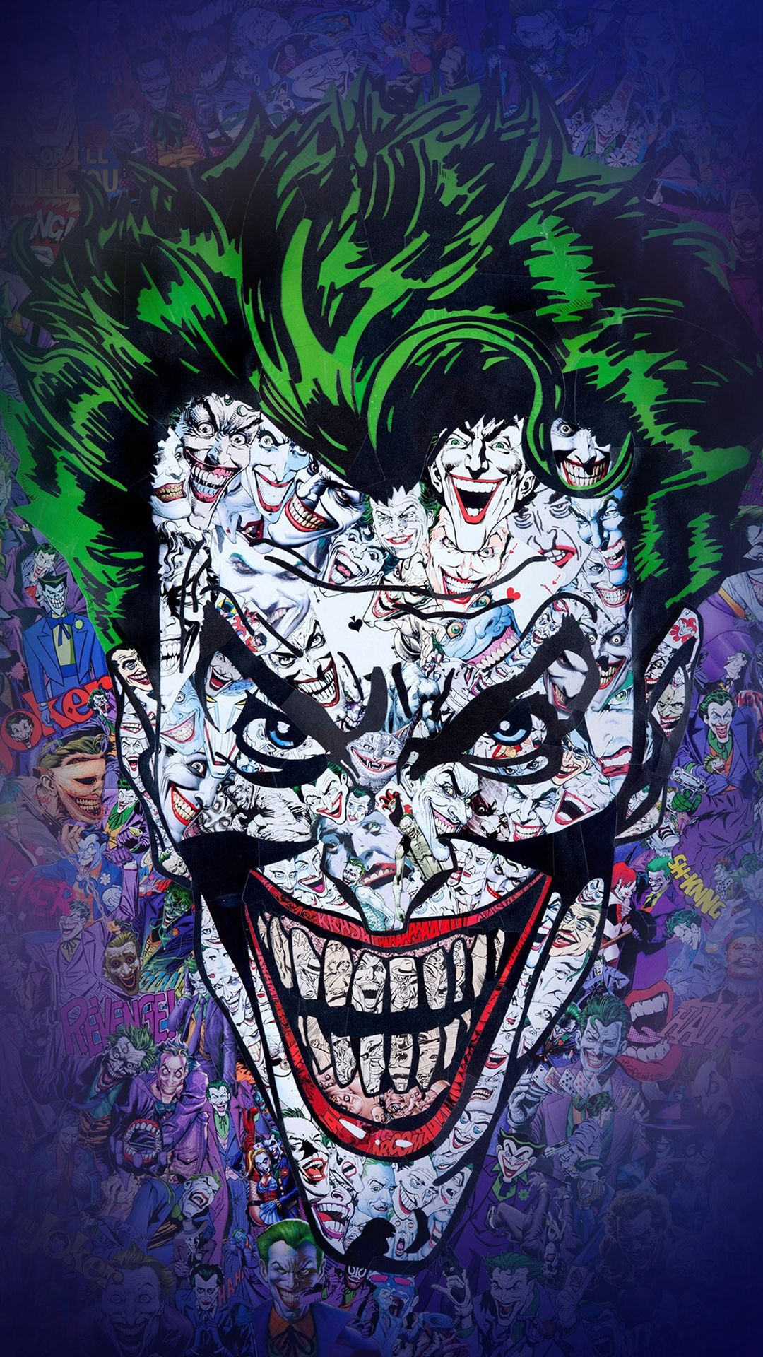 Joker Art Face Illustration Art iPhone 6 wallpaper