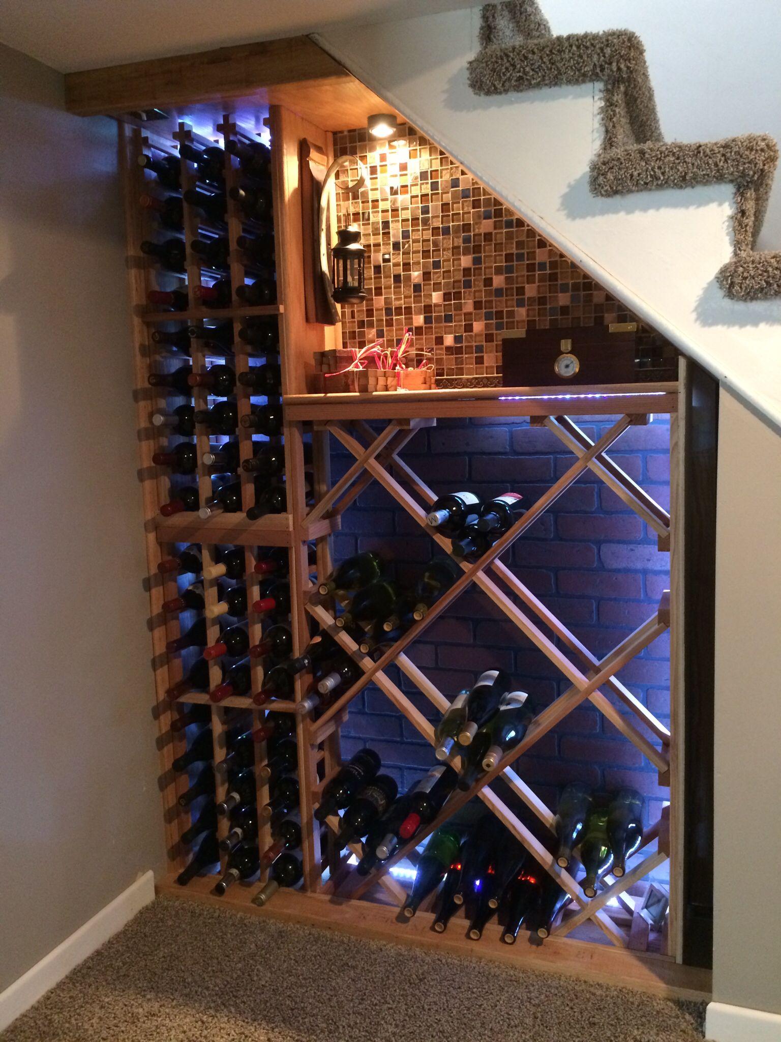 Wine cellar under the stairs | Wine cellar | Pinterest | Weinkeller ...