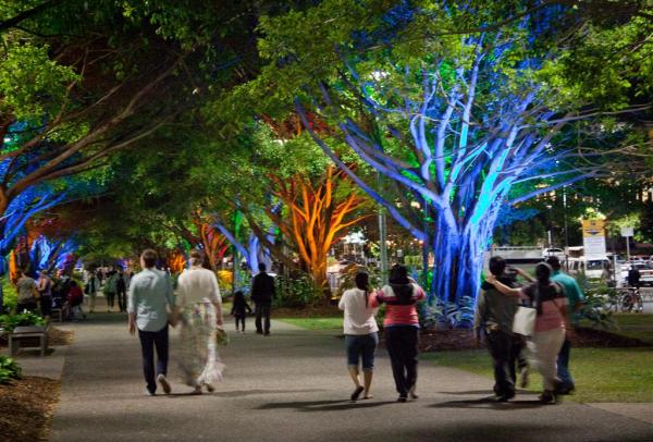 night on Cairns Esplanade