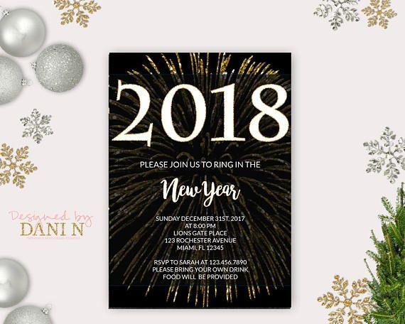 holiday invitations party invitations invite new year holidays new years eve party