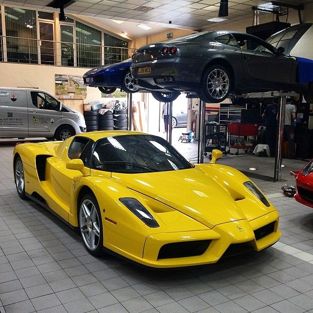 This Yellow #enzo Certainly Catches The Eye. #joemacari