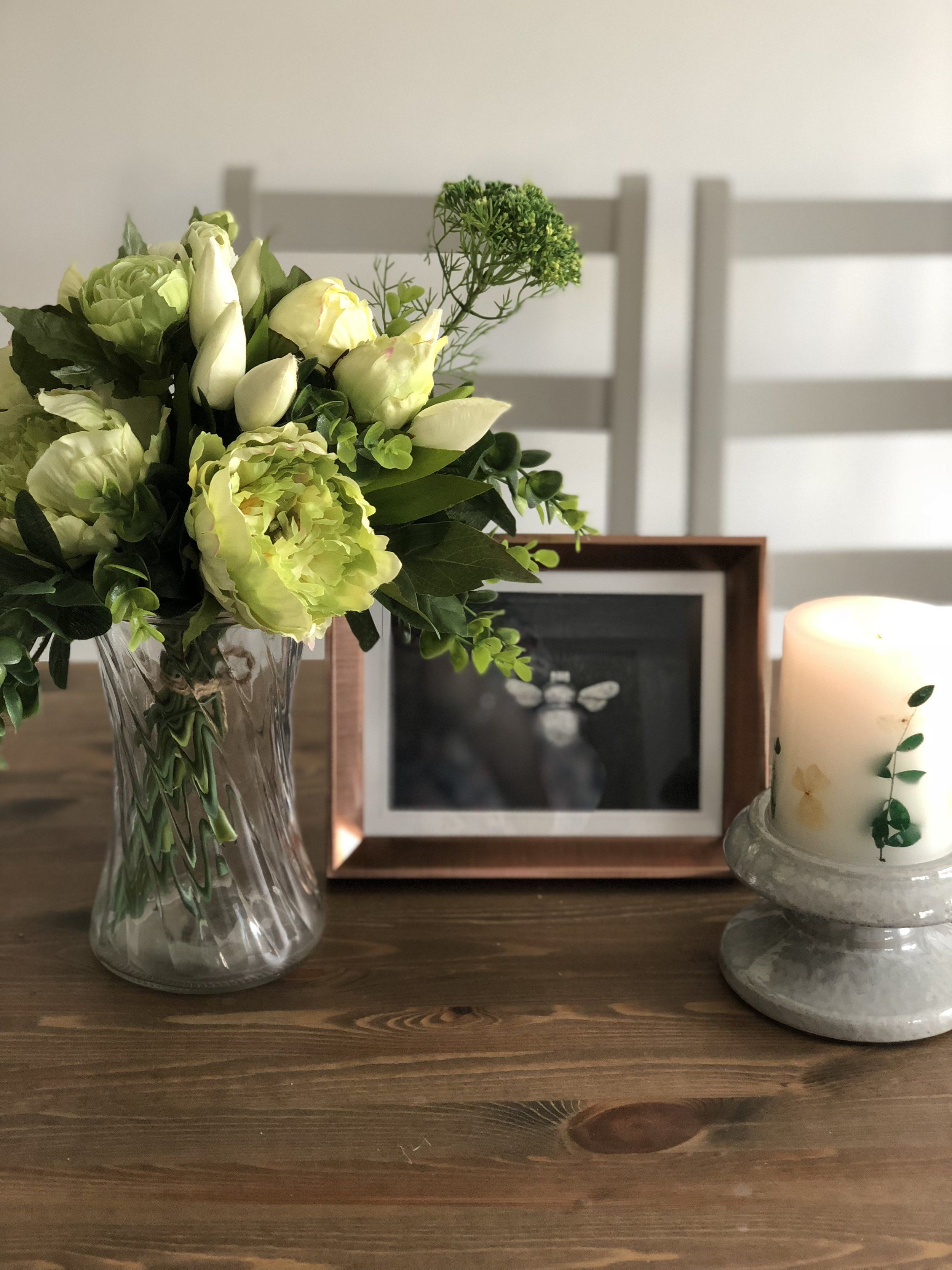 Copper x picture frame woodham blooms faux flowers pinterest
