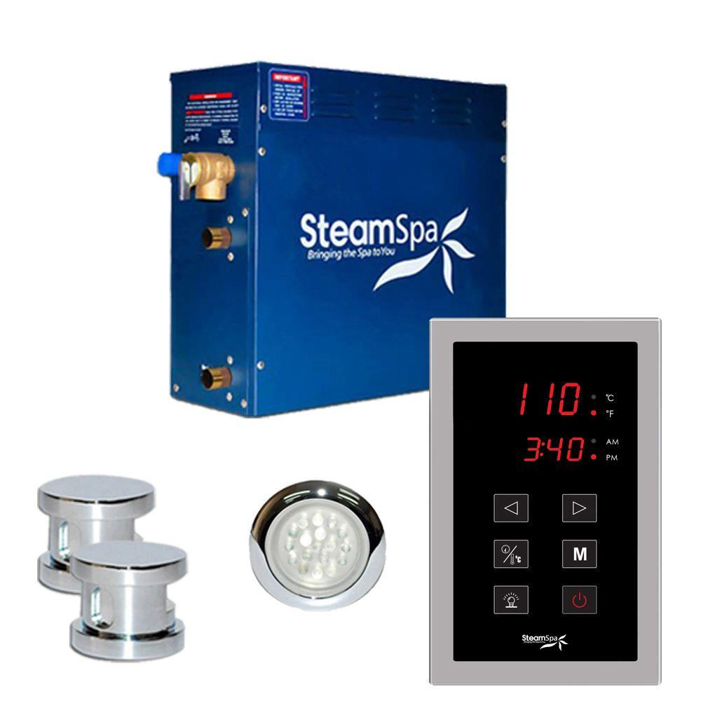 Steamspa Indulgence 10 5kw Touch Pad Steam Bath Generator Package In Chrome Steam Generator Steam Bath Steam Sauna