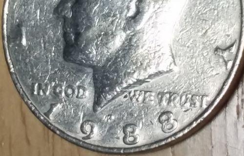 error #errorcoins MS Error Coins Kennedy Half Dollar 1988 Struck