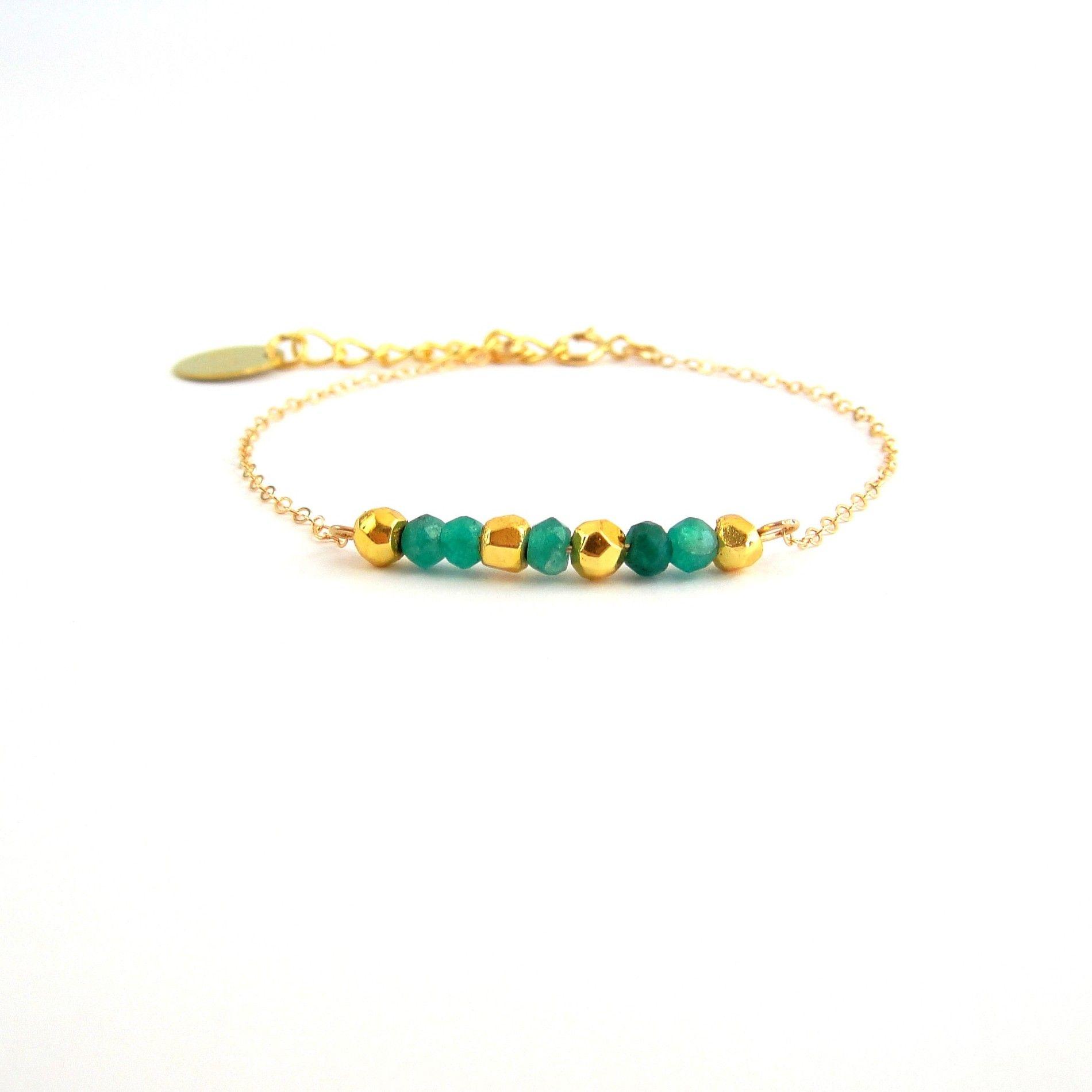 * Bracelet petit Paris onyx verts et pyrites * #pyrites #onyx #bracelet #bijoux #jewelry #madeinfrance #desinvolte #lesdesinvoltes
