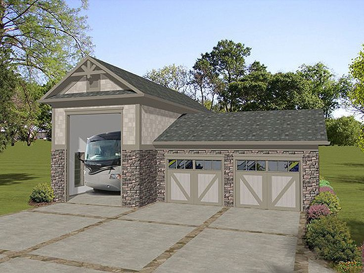Plan 007g 0010 garage plans and garage blue prints from for Carport apartment