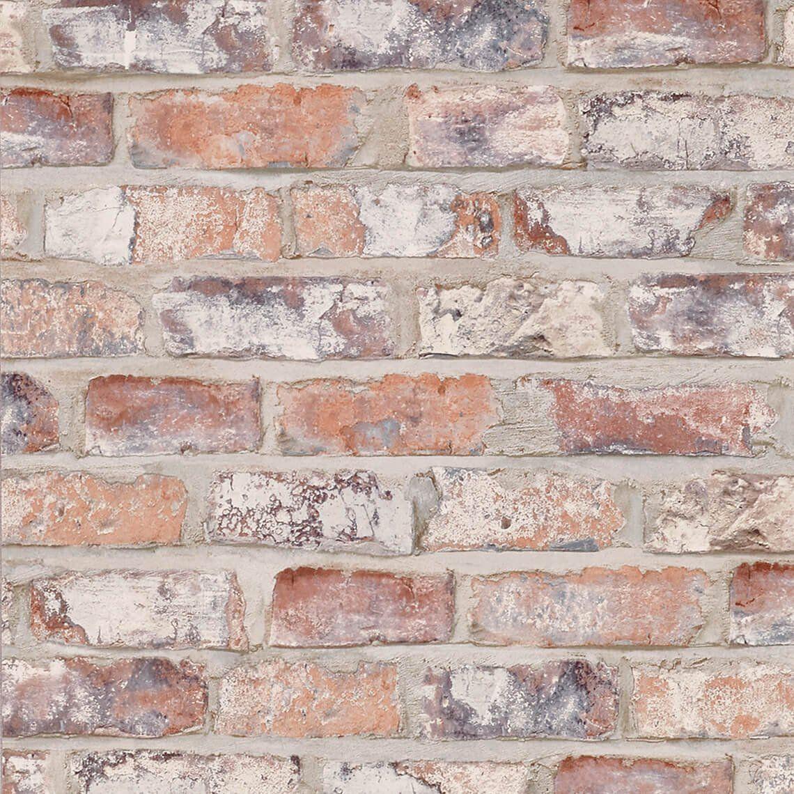 papier peint new brique vinyle sur intiss imitation briques id appart pinterest briques. Black Bedroom Furniture Sets. Home Design Ideas
