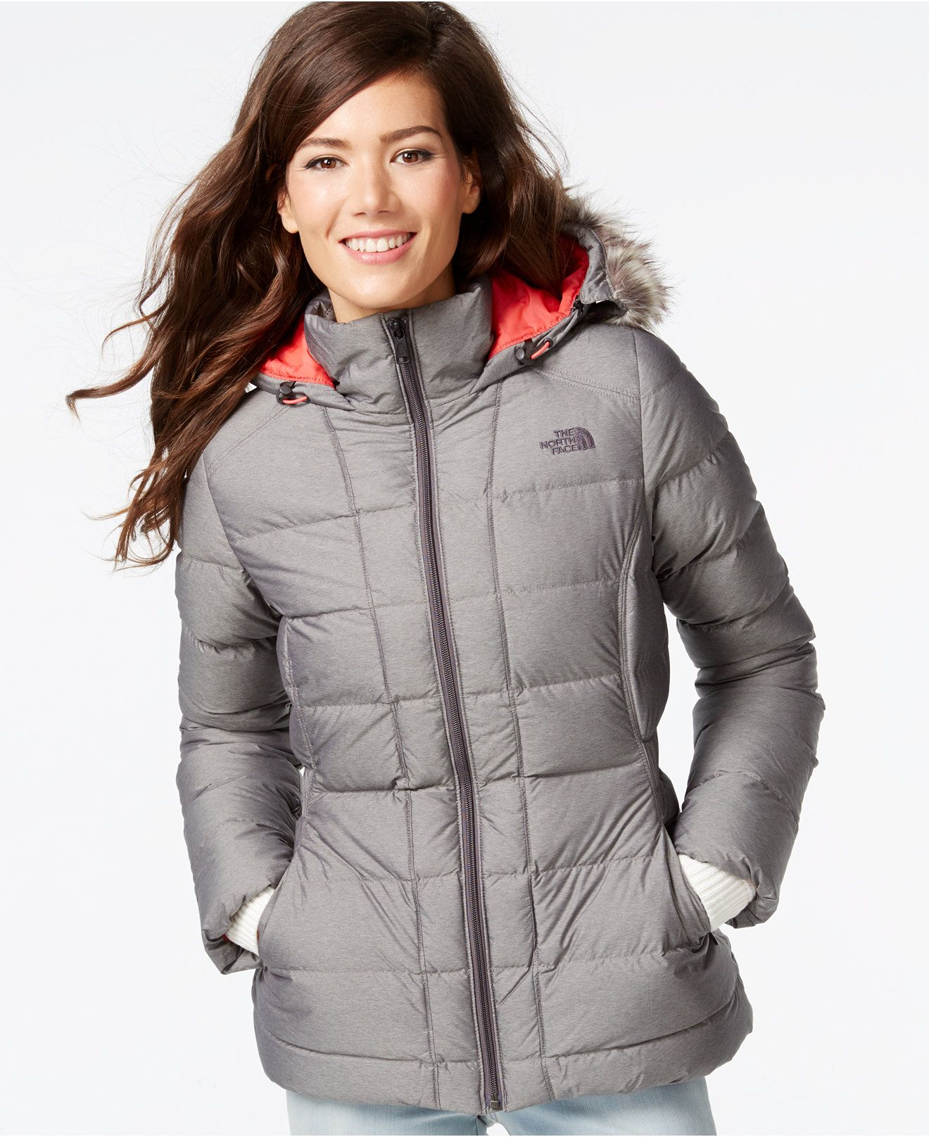 The North Face Gotham Full Zip Down Jacket Juniors Jackets Vests Macy S Blazer Jackets For Women Jackets Juniors Jackets [ 1616 x 1320 Pixel ]