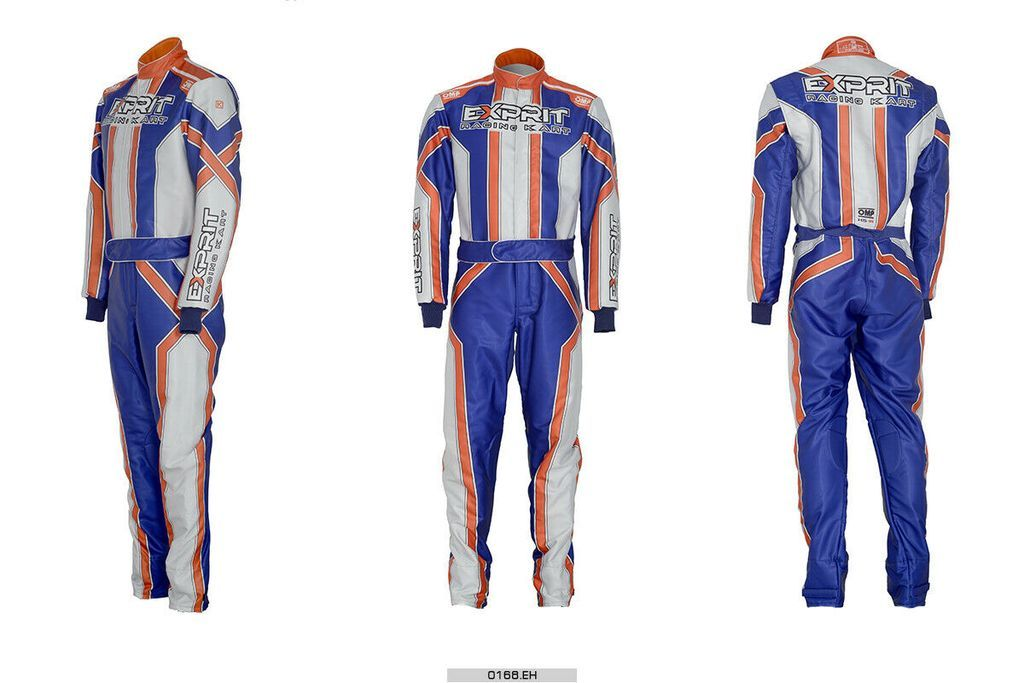 Exprit Omp Sublimation Printed Go Kart Race Suit In All Sizes In 2020 Racing Suit Racing Stripes Go Kart
