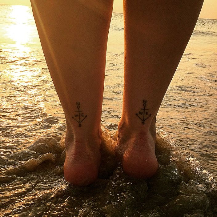 Anchor Tattoos With Directions On The Back Of The Ankles Tattoo By Mr Boom Celebrity Ink Patong Phuket Back Of Ankle Tattoo Ankle Tattoo Anchor Tattoos