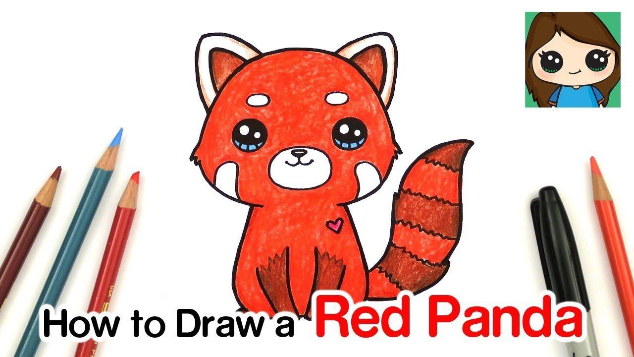 How To Draw A Red Panda Youtube Drawing Tekenen