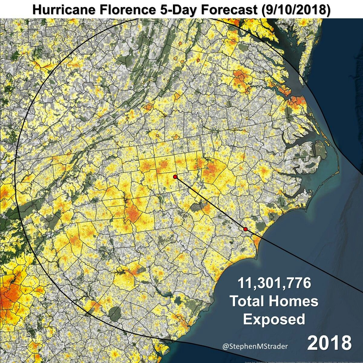 Population In Path Of Hurricane Florence City Photo Florence Aerial