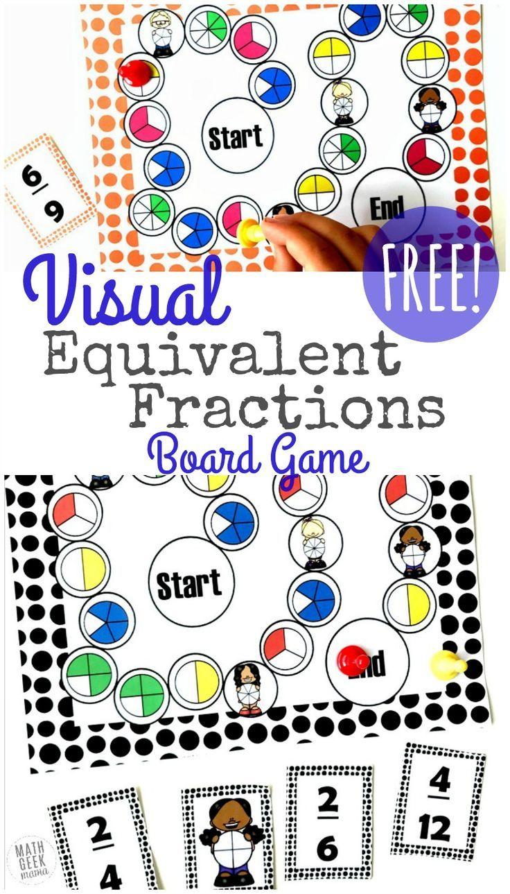 13b48abb831b Visual Equivalent Fractions Game Printable  FREE